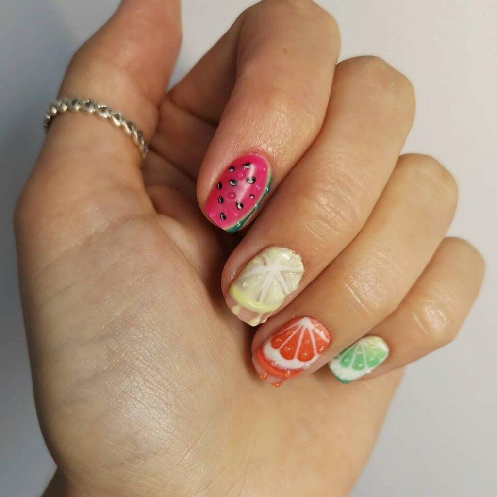 Fruit Juice Nails