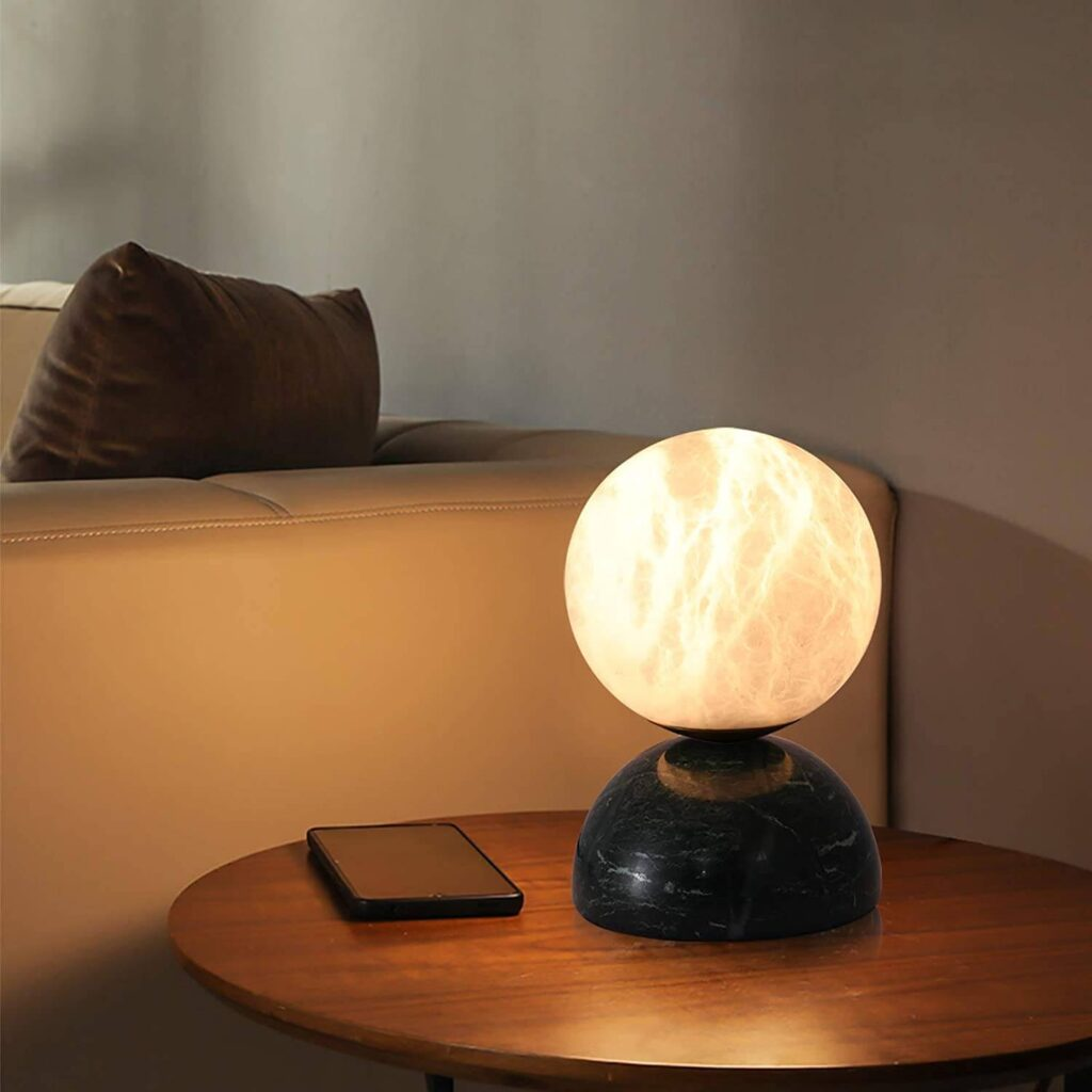 Moon marble table lamp
