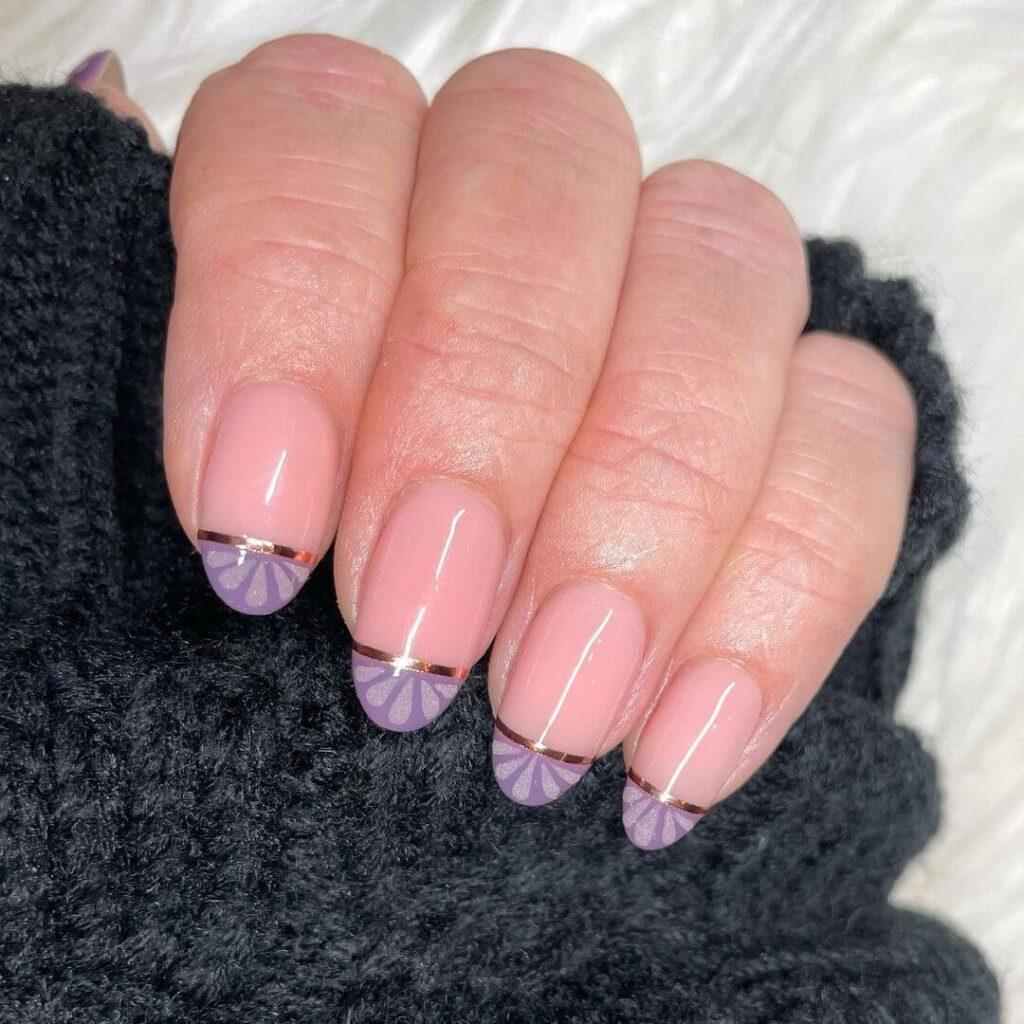 Purple French nail