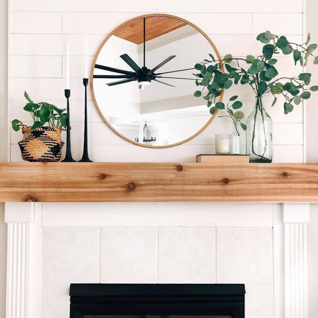 Simple fireplace decoration
