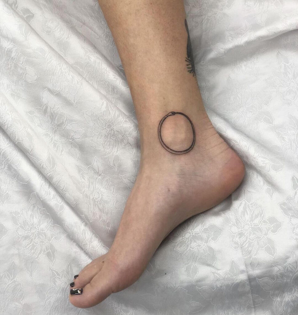 Snake ring Foot tattoo