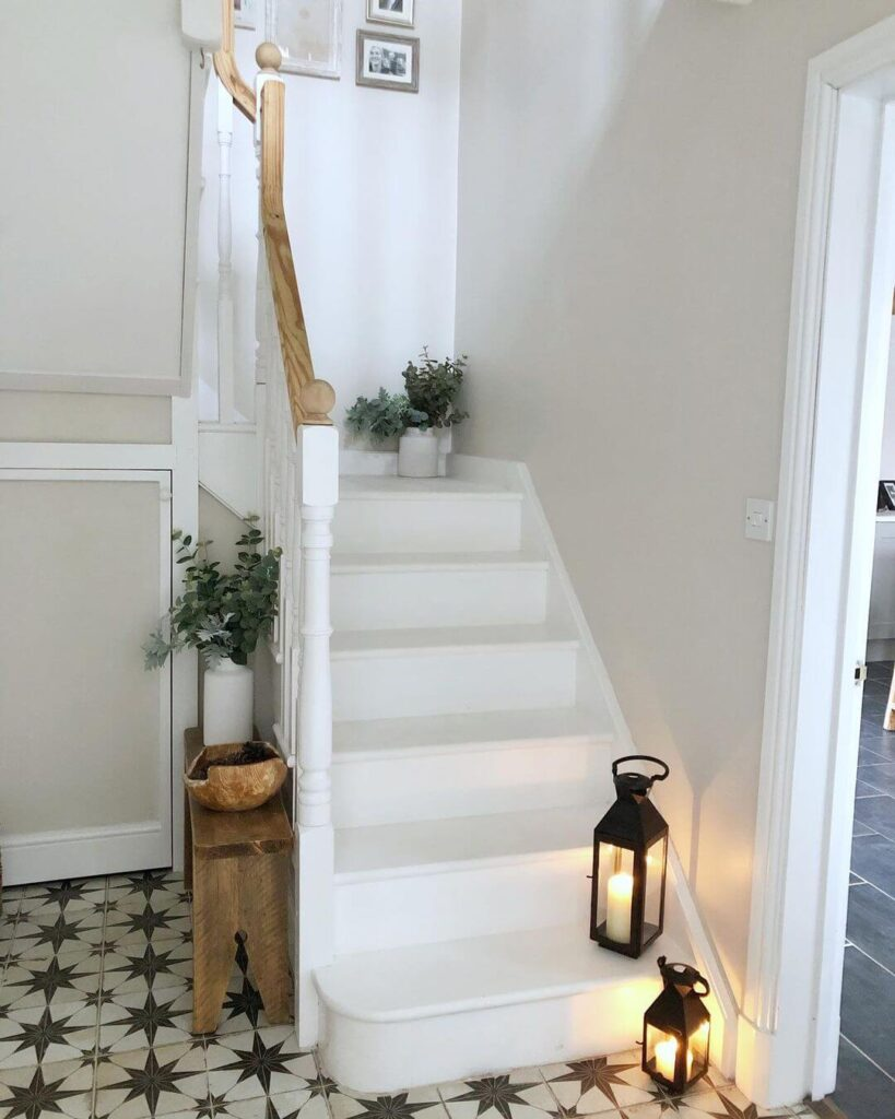 Stair decoration for spring