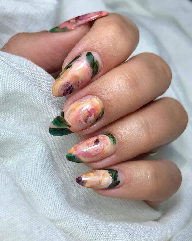 Stunning wedding nail designs