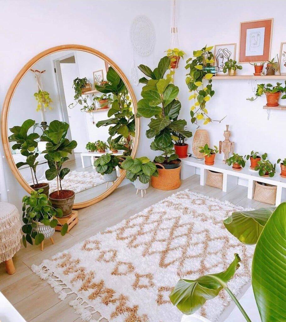 The garden in the bedroom