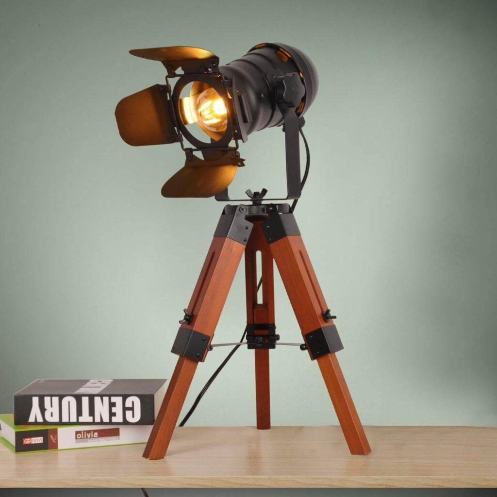 Tripod Cinema Table Lamp