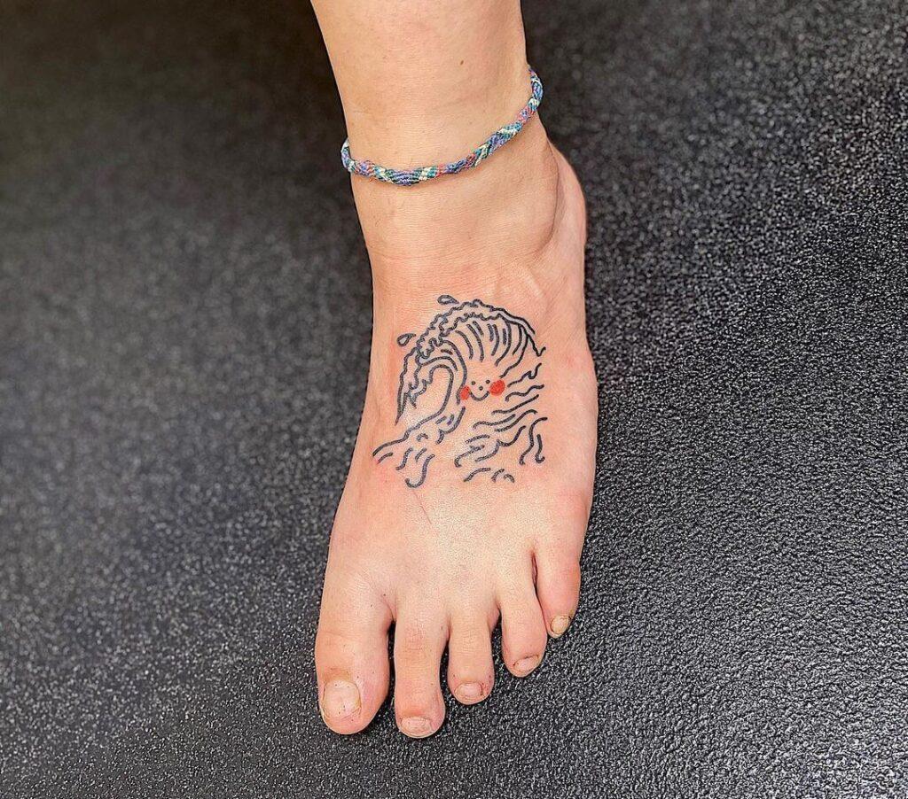 Waves Foot tattoo