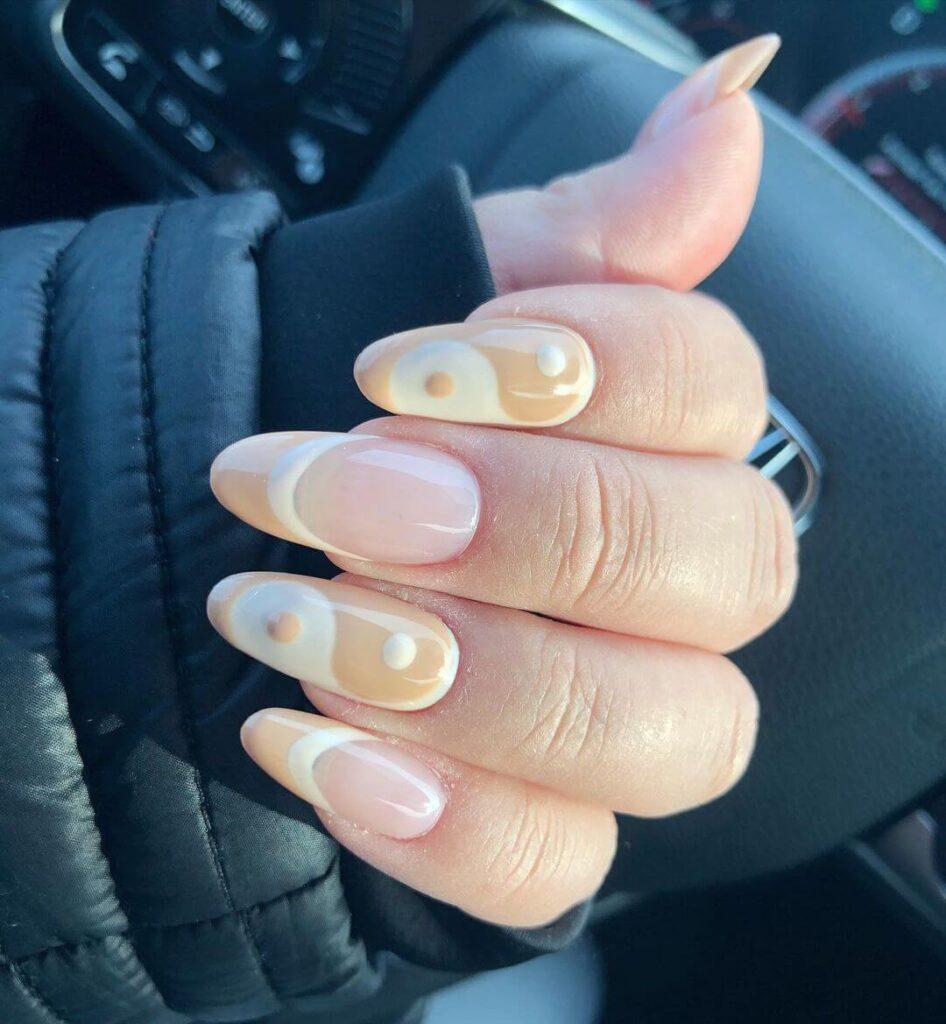 Yin Yang French nail