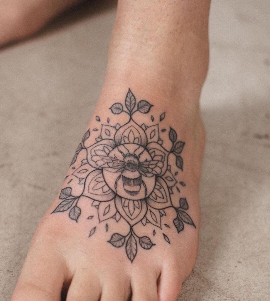 bee Foot tattoo