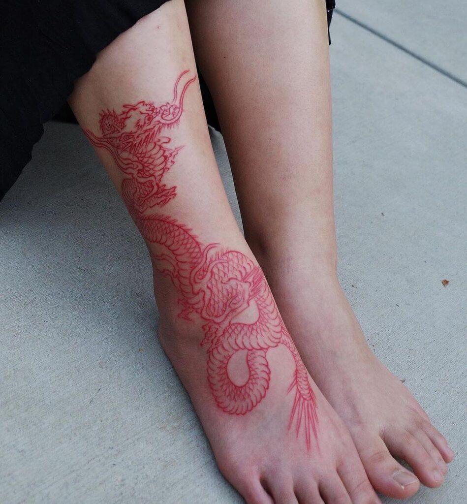 dragon Foot tattoo