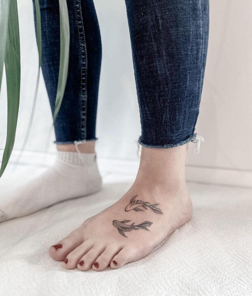 fish Foot tattoo