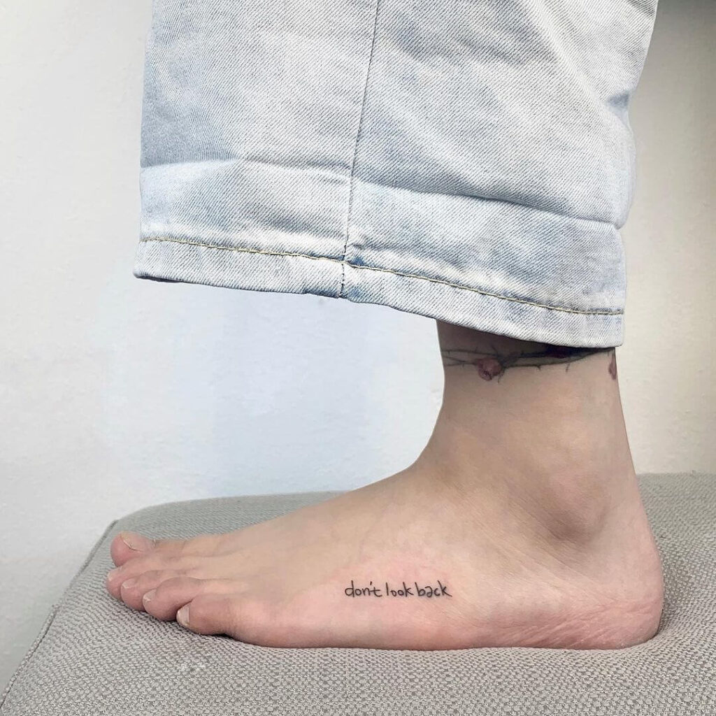 quote Foot tattoo