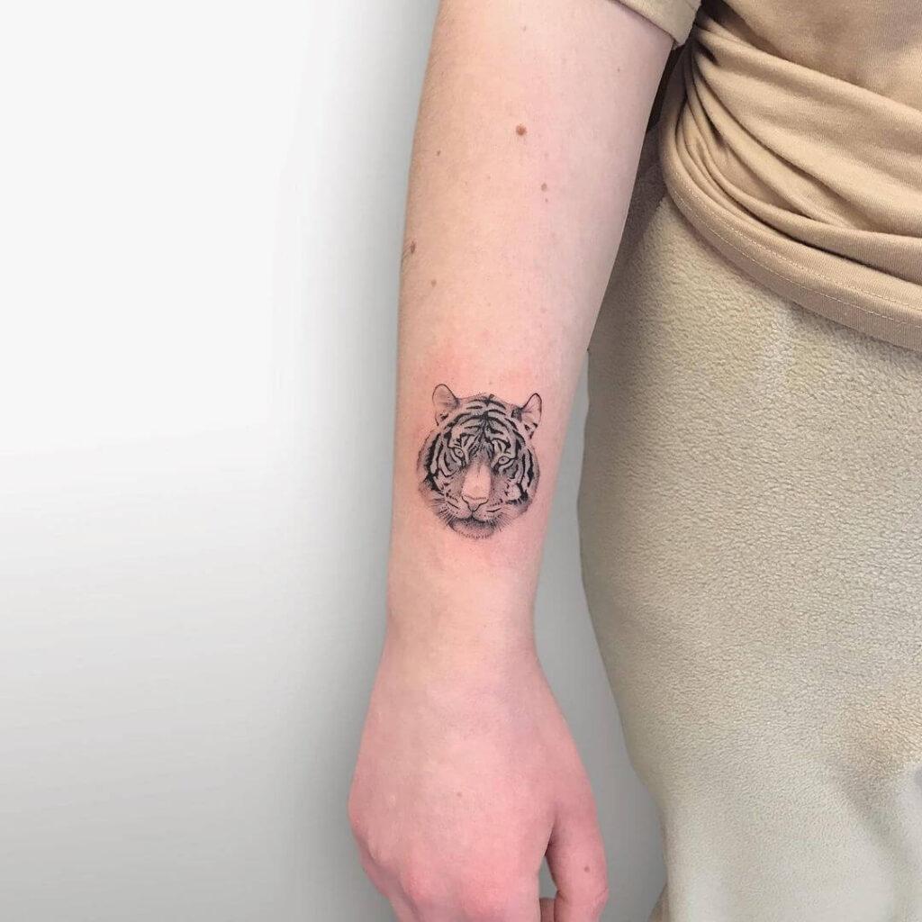 Cool Tiger Small Tattoo