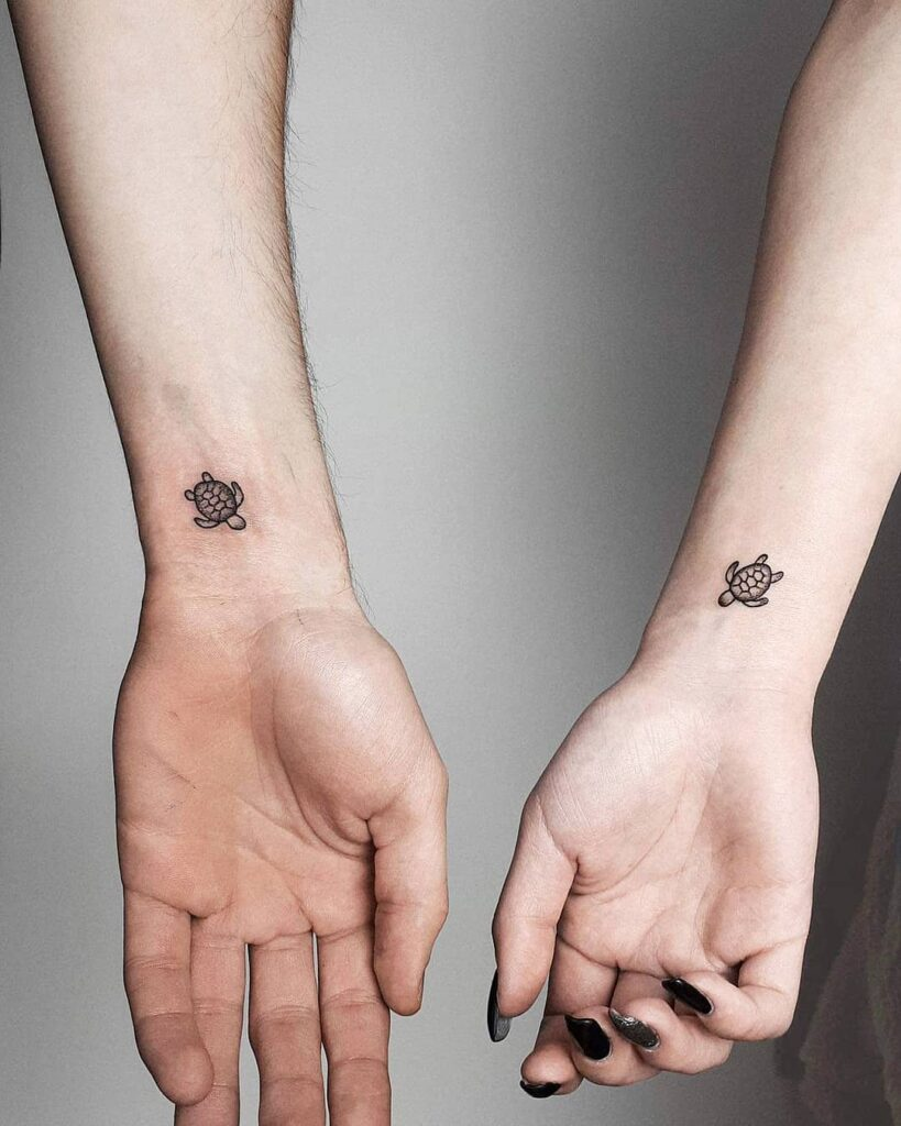 Turtle Couple Tattoo