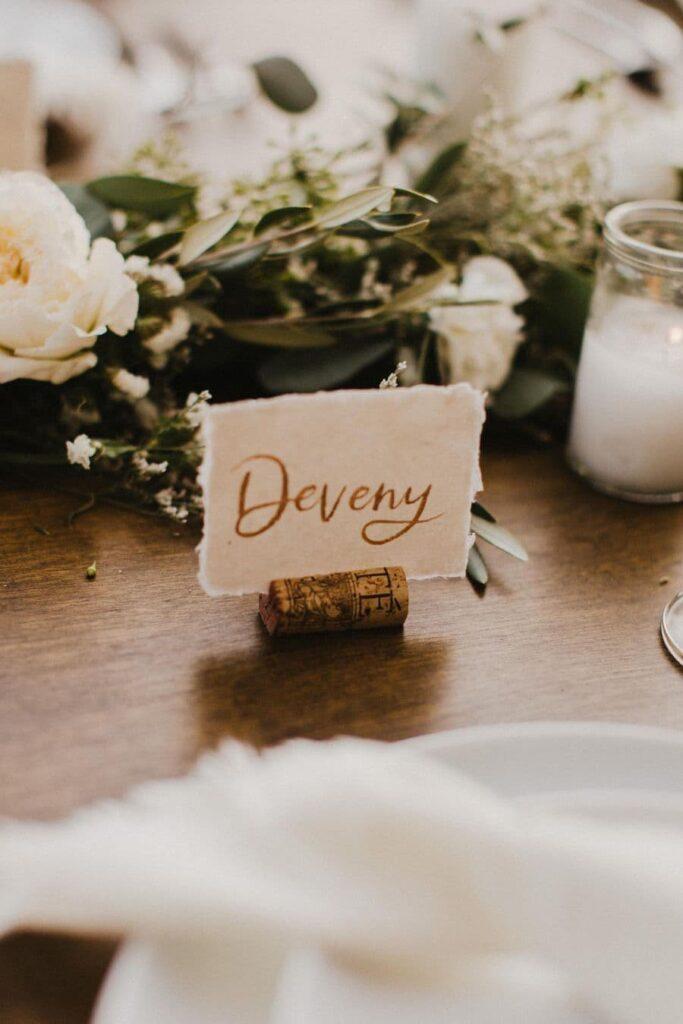 Table decoration details