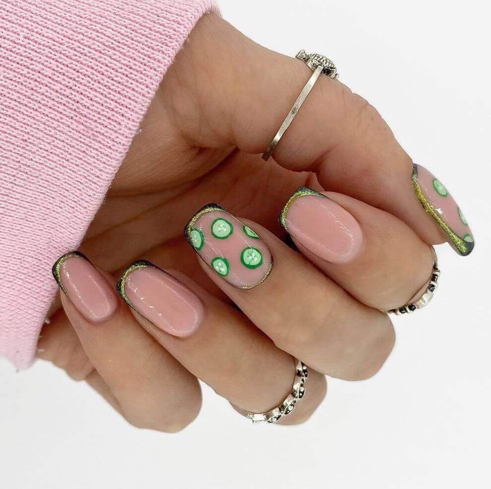 Cute cucumber nails