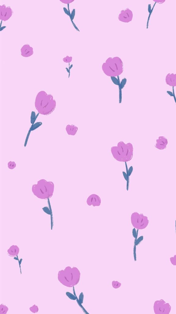 Dreamy purple flowers HD phone wallpaper