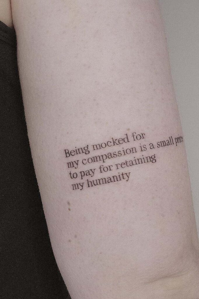 Long quote tattoo