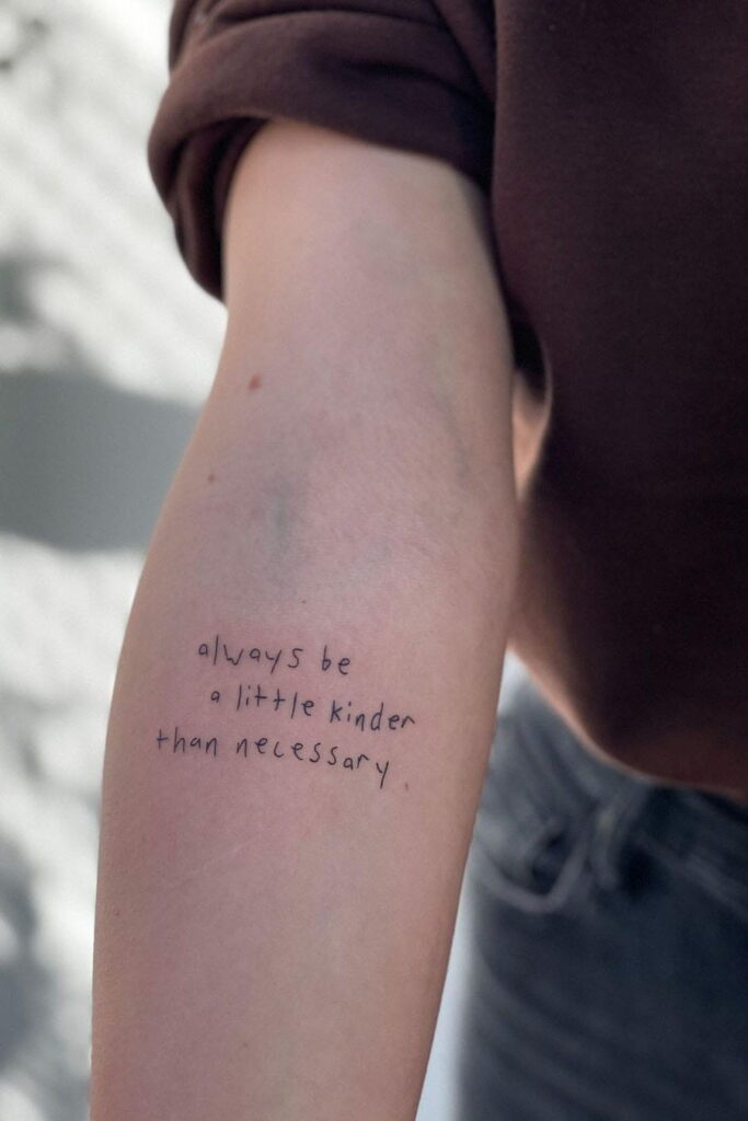 Free handwriting quote tattoo