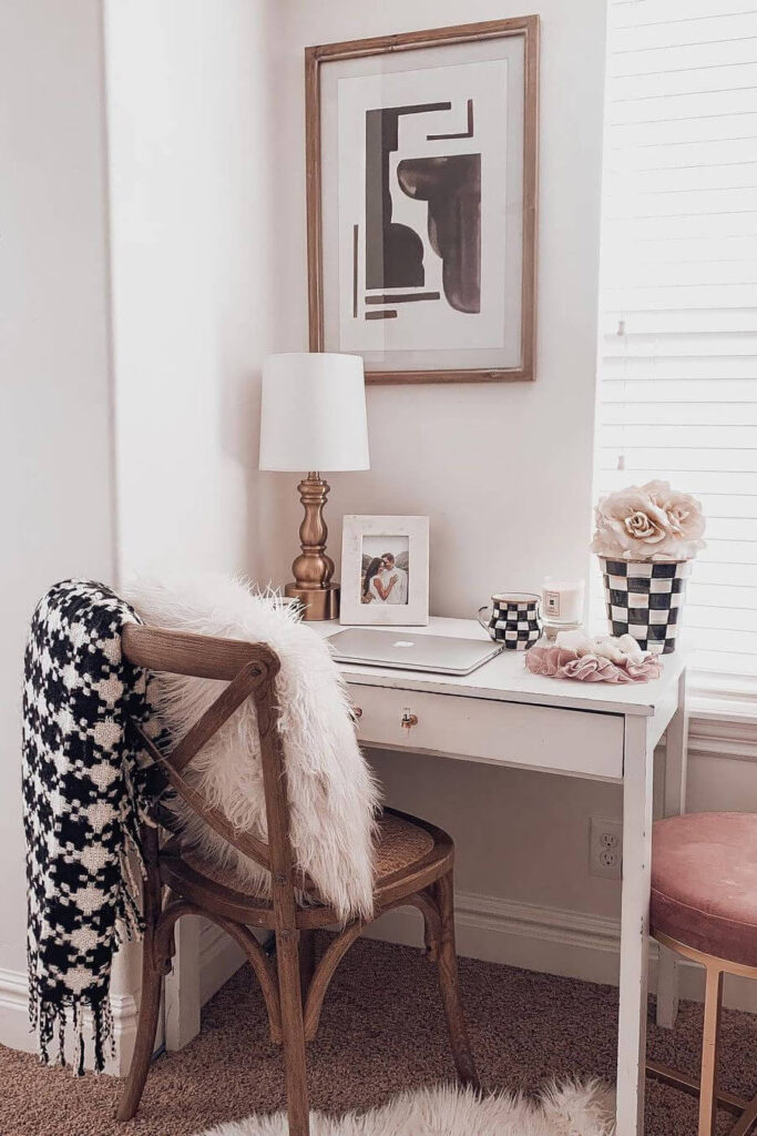 Spring home office decoration