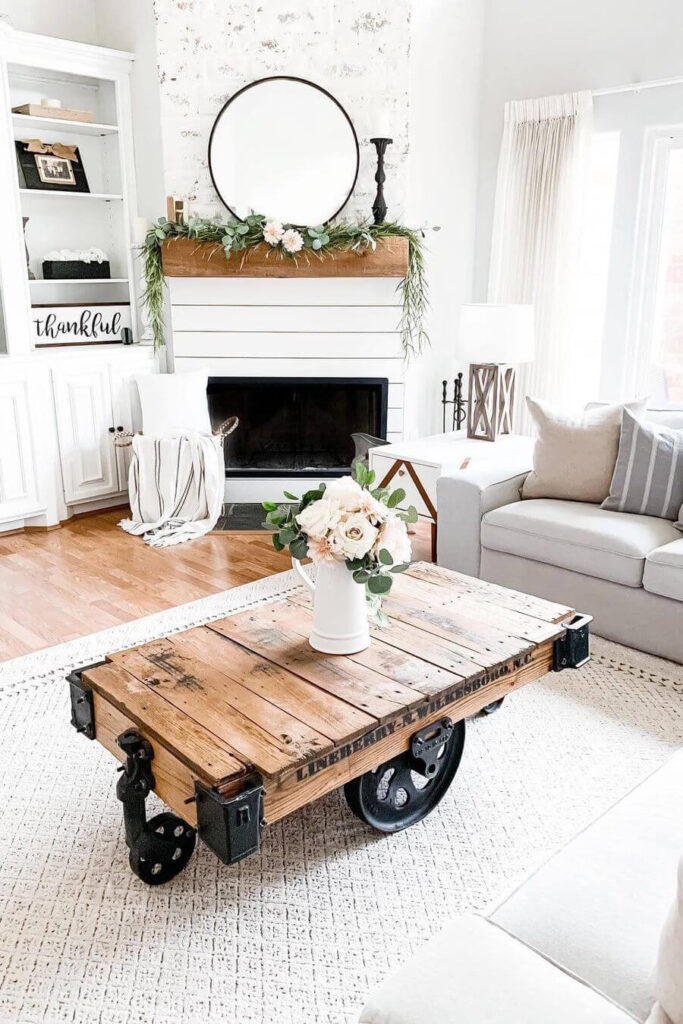 Spring living room decoration