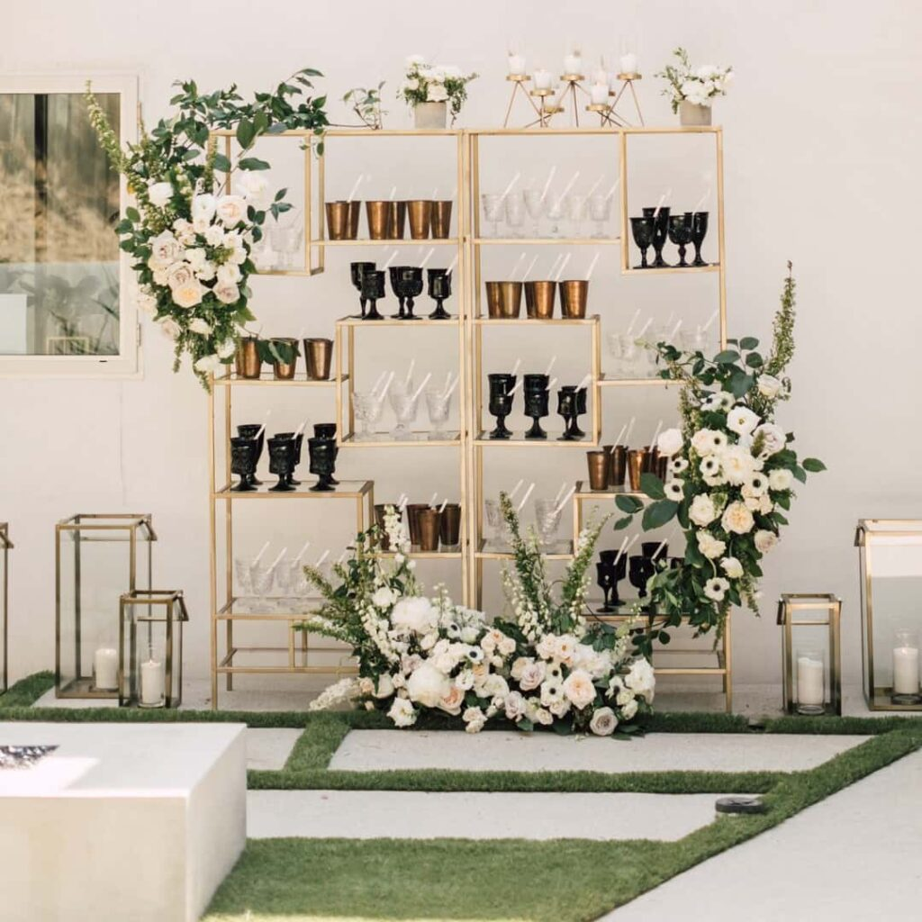 Spring wedding focus decoration