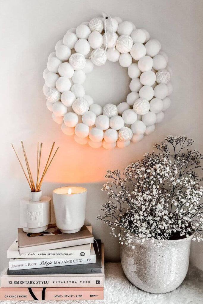 Spring white decoration