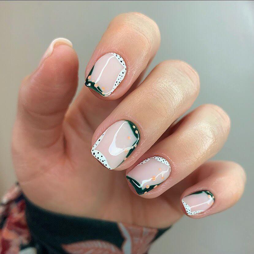 Boho square nails