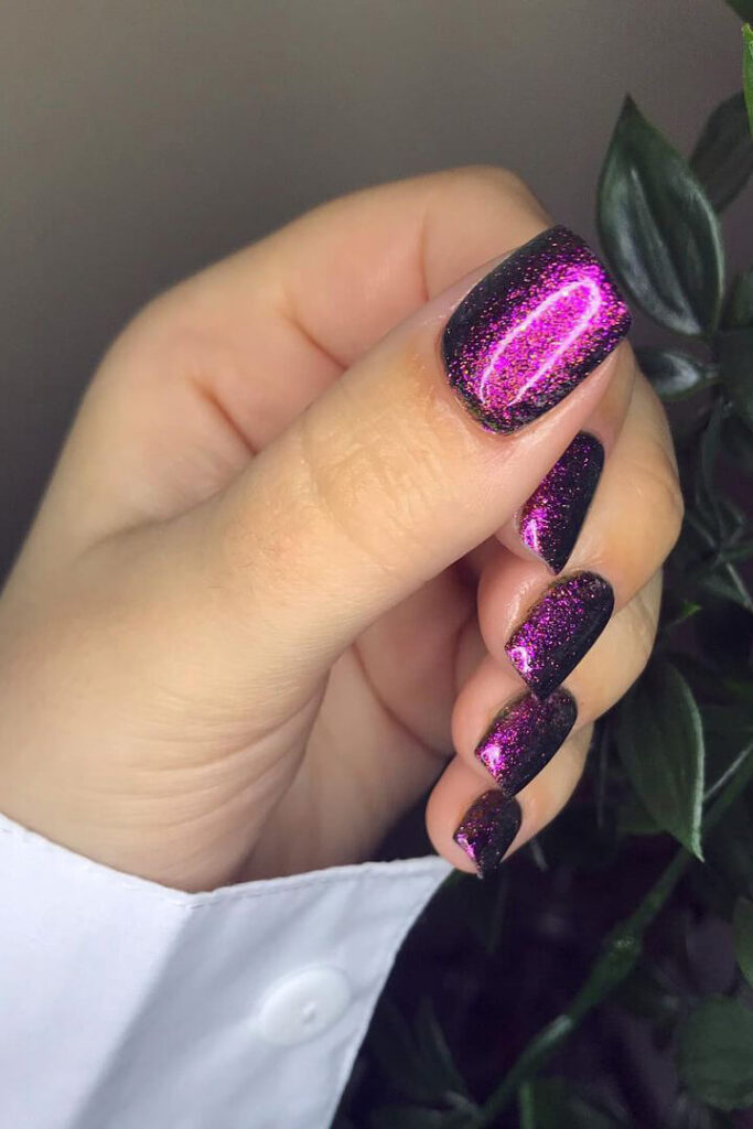Dreamy purple square nails
