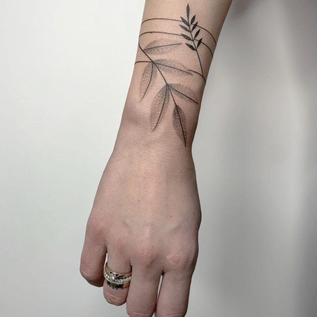 Plant wrist tattoo