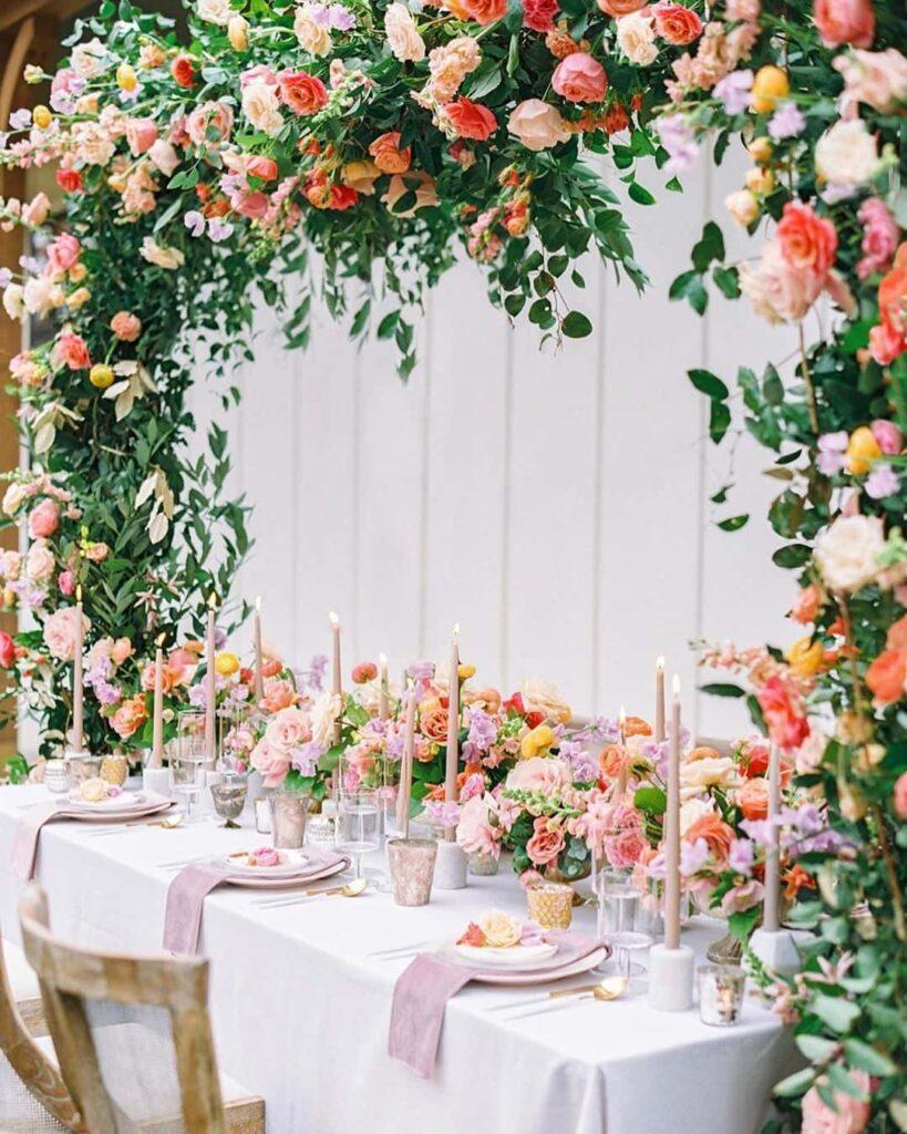 More floral decoration