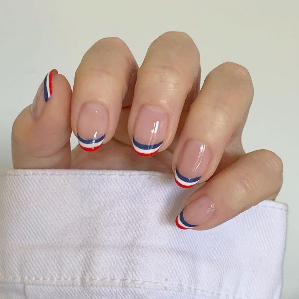 Short French nails