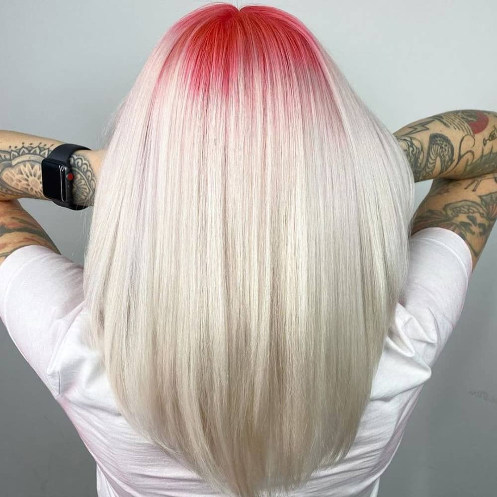 Red hair roots