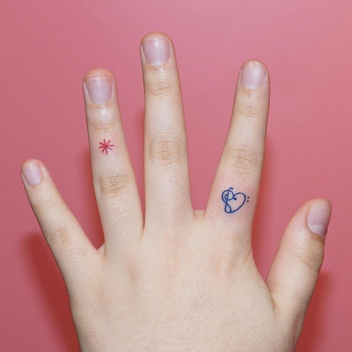 Finger Line Tattoo