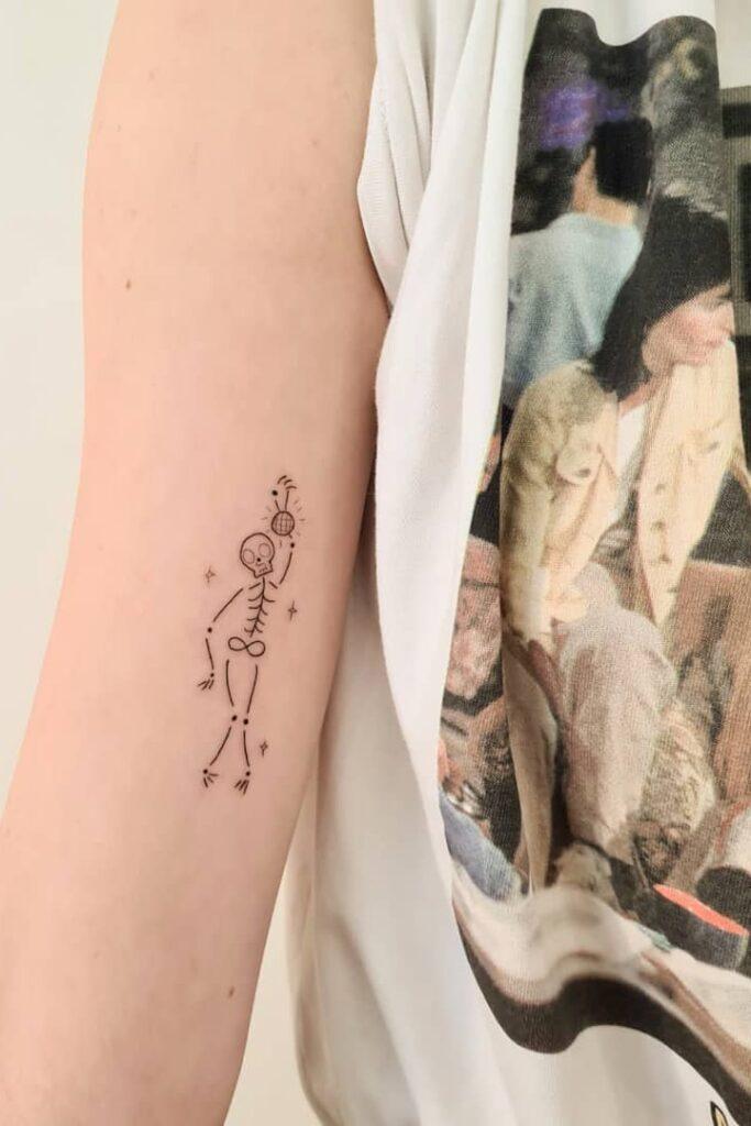 Funny line tattoo