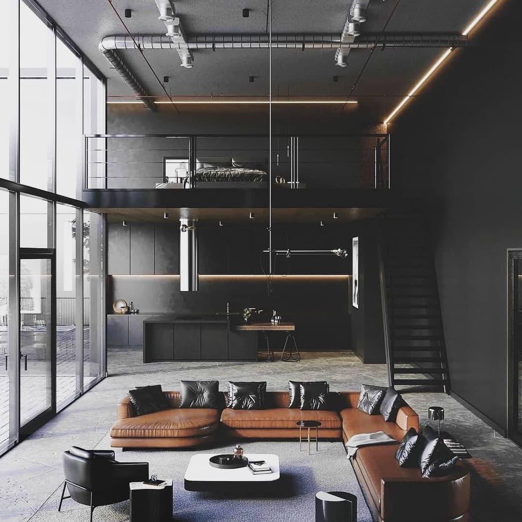 Black industrial decor