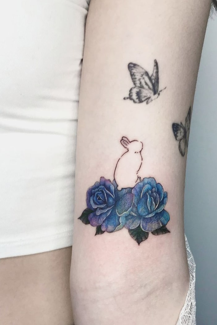 Cute rose tattoo