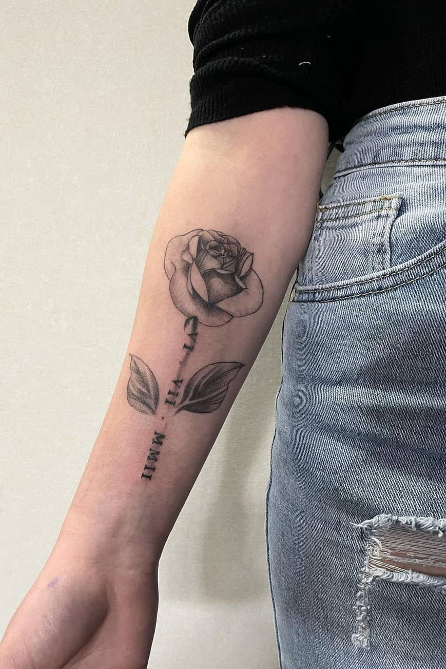 Meaningful rose tattoos