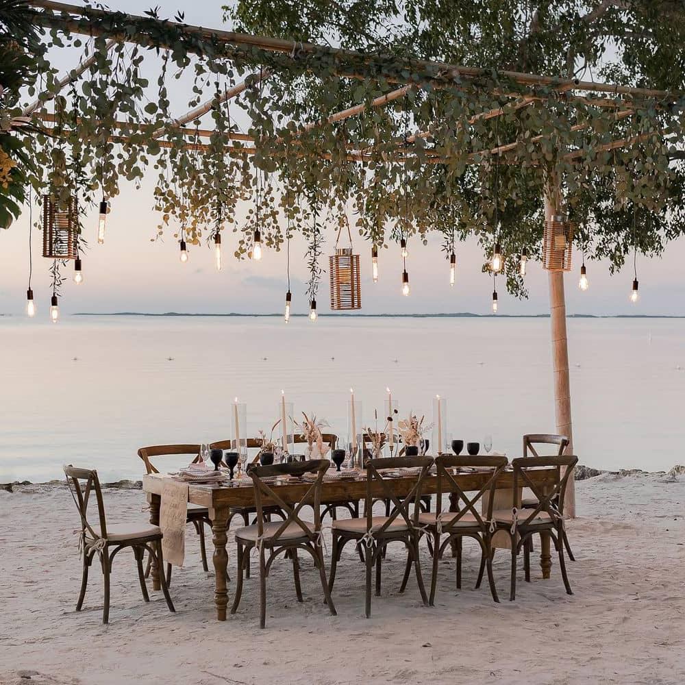 Beach wedding plant decoration