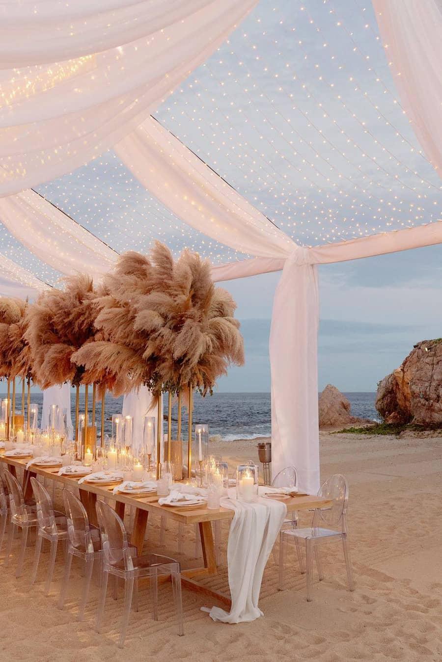 Amazing beach wedding decoration