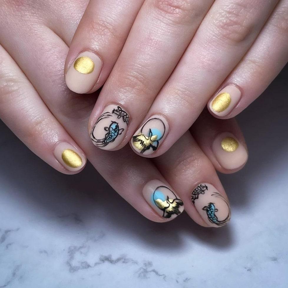 Gorgeous summer short nails