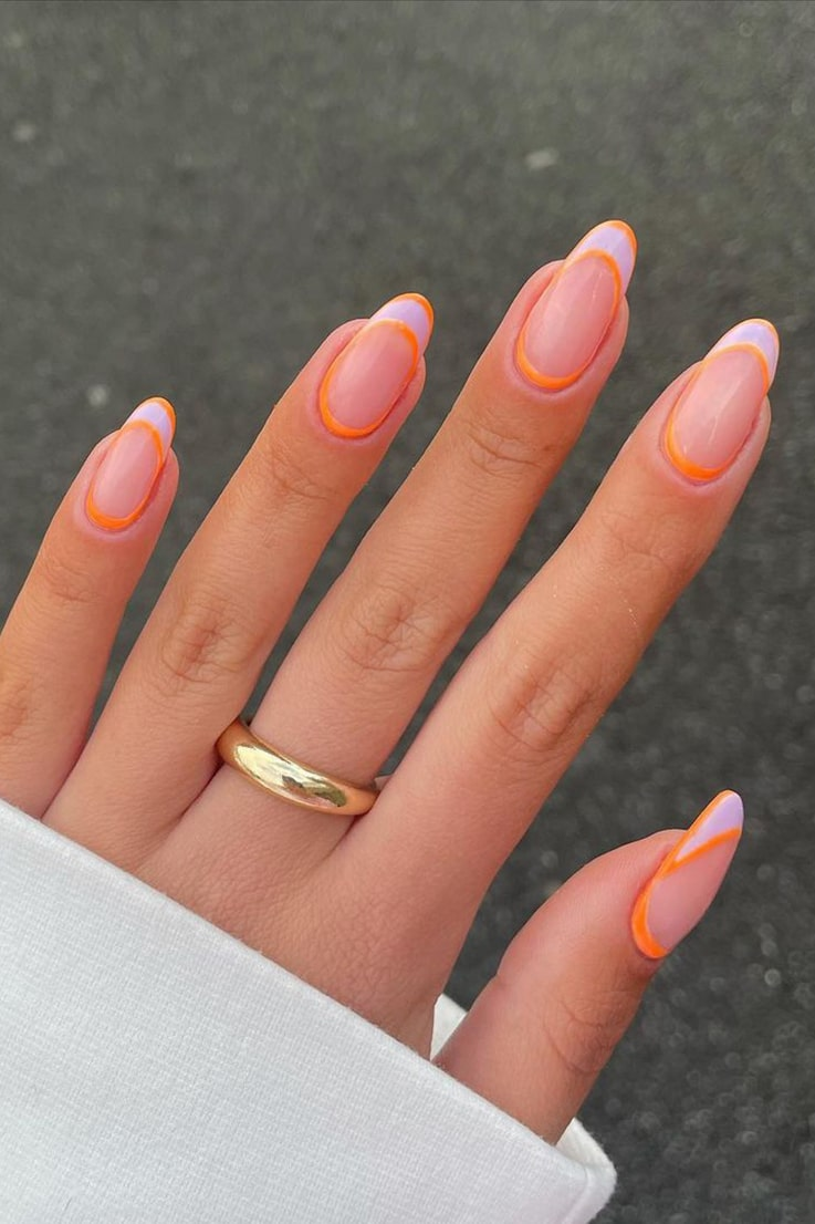 Stylish and simple summer nails