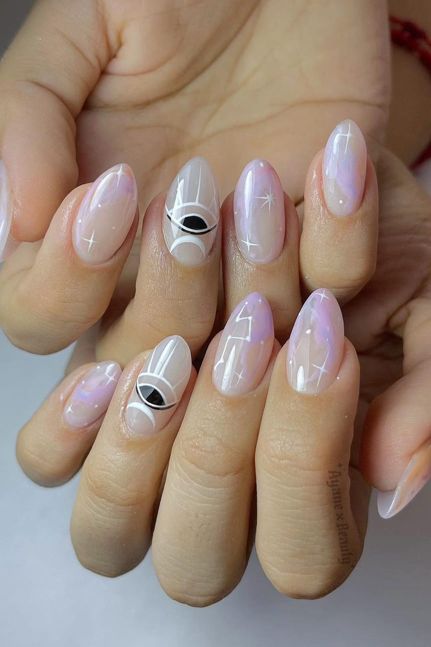 Watercolor summer nails