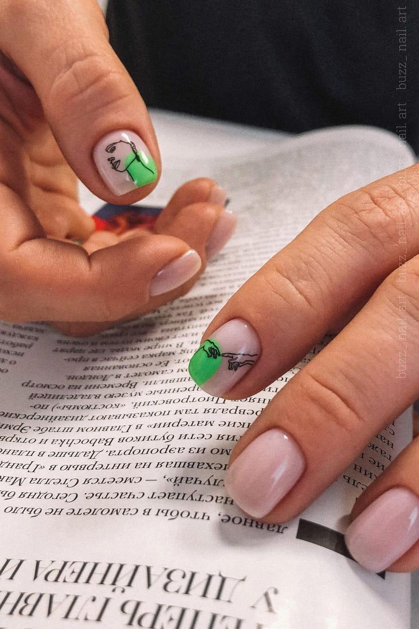 Creative summer short nails
