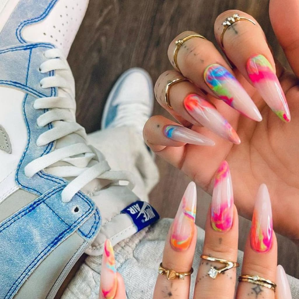 Fun summer long nails