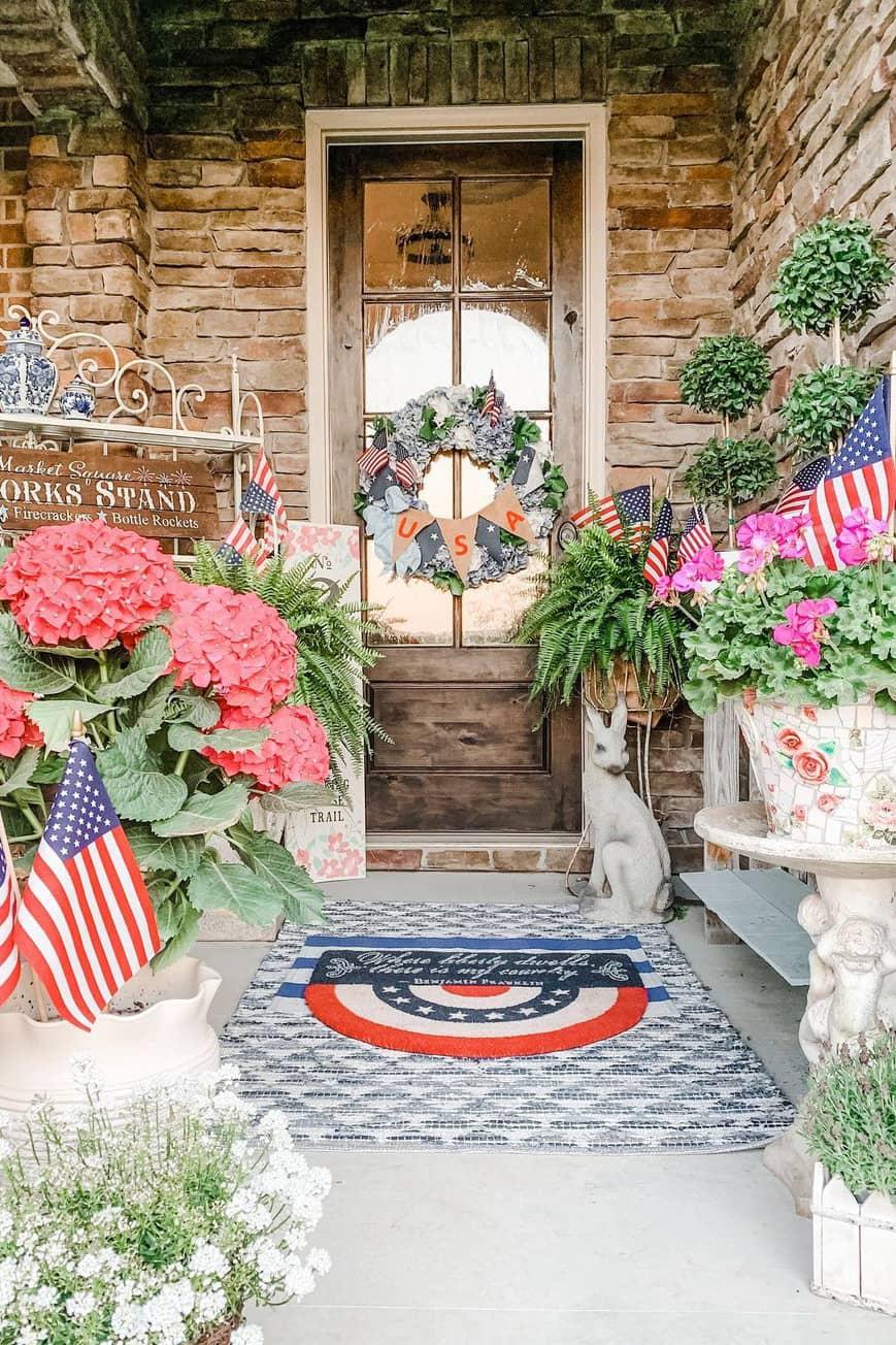 Outdoor porch decoration