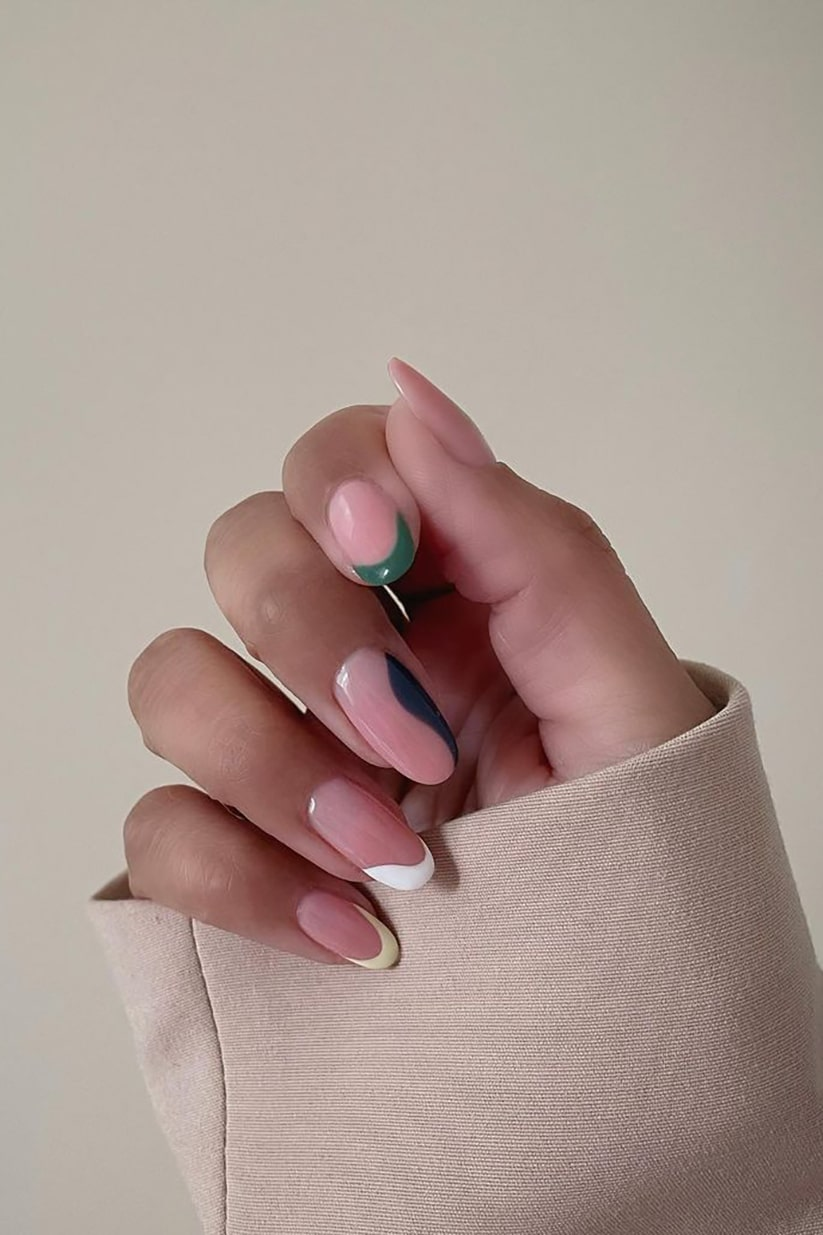 Minimalist negative space nails