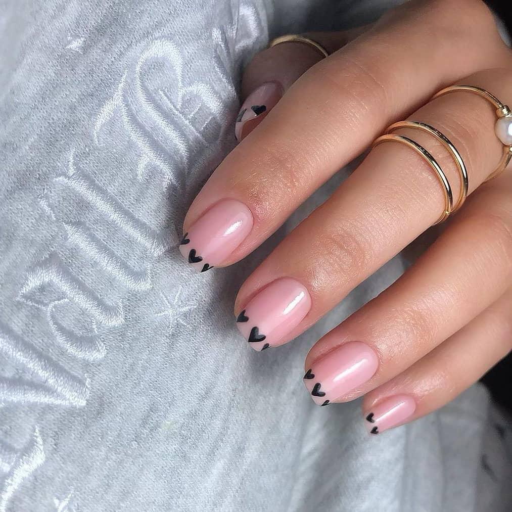 Cute negative space nails