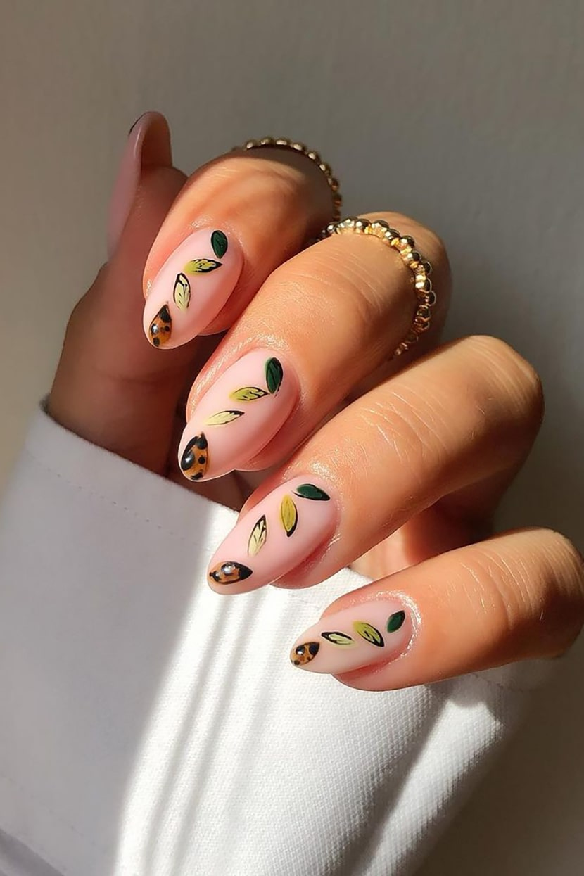 Spring Negative Space Nails