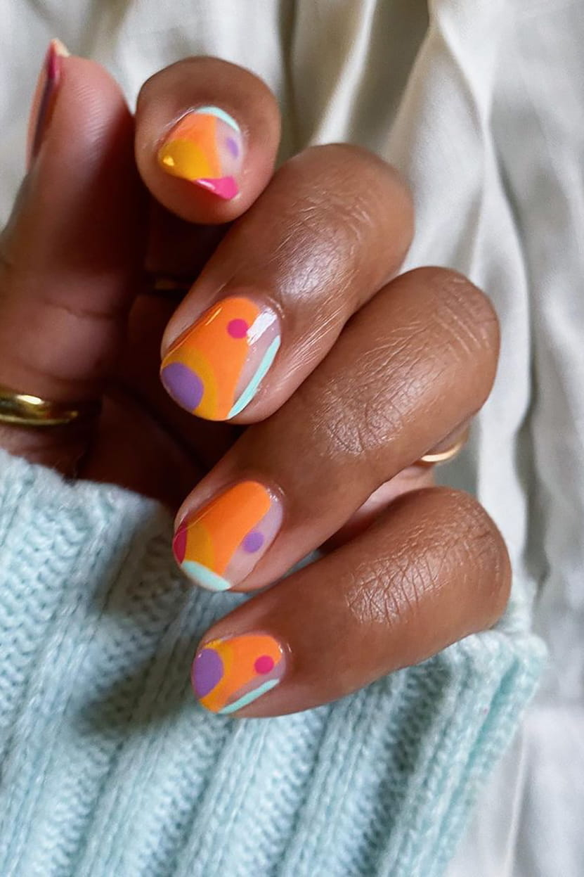 Summer negative space nails