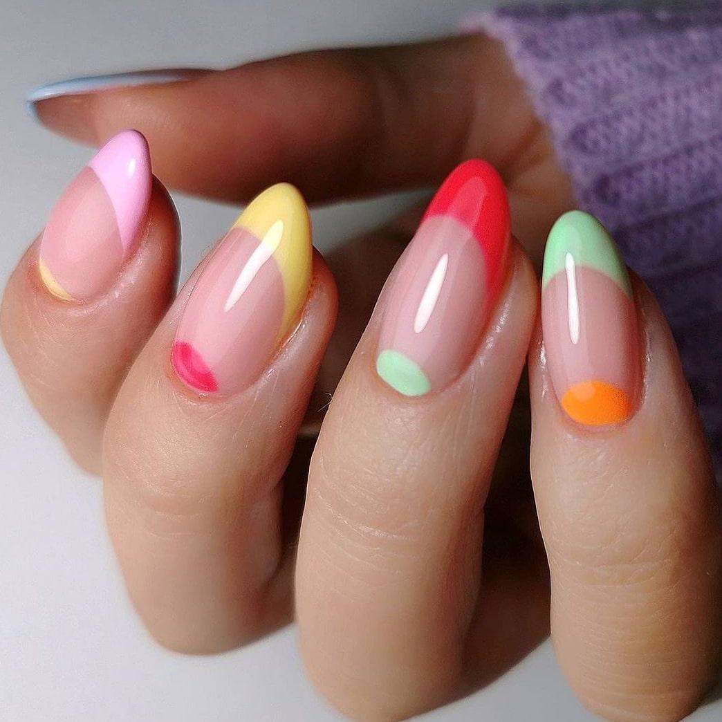 Creative negative space nails